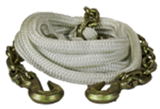 tow rope- chain ends, recovery rope, kinetic recovery tow rope, K.E.R.R